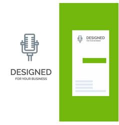 microphone multimedia record song grey logo vector image
