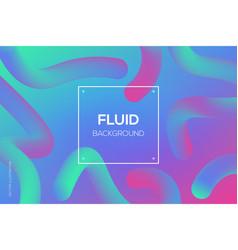 modern 3d fluid dynamic futuristic web design vector image
