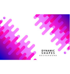 Modern dynamic shapes style background vector