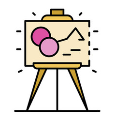 museum picture icon color outline vector image