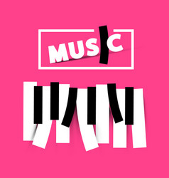 music symbol on pink background vector image