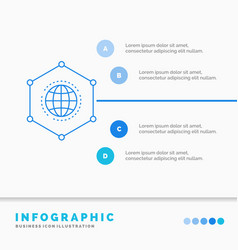 network global data connection business vector image