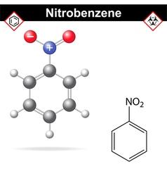 Nitrobenzene structure vector image
