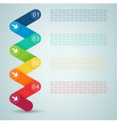 Number steps 3d infographic 1 to 4 vector