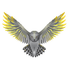 Owl with golden wings vector