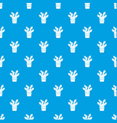 Prickly pear pattern seamless blue vector