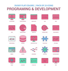 Programming and developement icon dusky flat vector