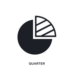 Quarter isolated icon simple element from vector