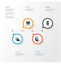 Ramadan icons set collection of malay nachmittag vector