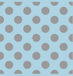 Seamless pattern with cute tile grey polka dots vector
