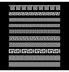 Set of border decoration elements seamless vector image