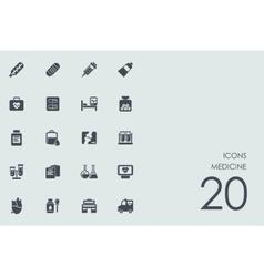 Set of medicine icons vector image