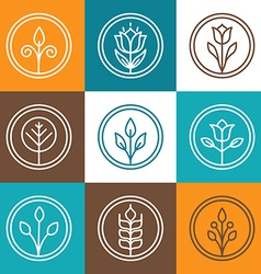Set of nature badges vector image