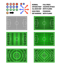 soccer field strategy plan element graphic vector image