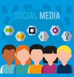 Social media users vector