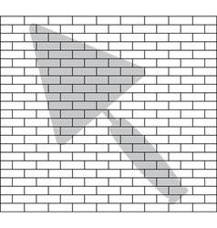 Stencil of brick wall vector