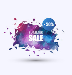 summer sale banner geometric background vector image