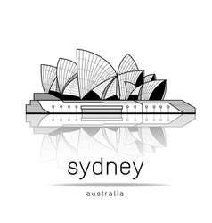 Sydney opera house design vector