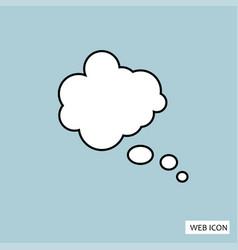 think bubble icon think bubble icon eps10 think vector image