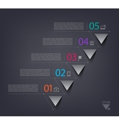 Timeline infographics design template with 5 vector image
