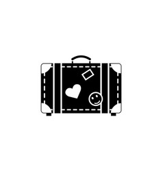 Travel bag solid icon travel tourism vector