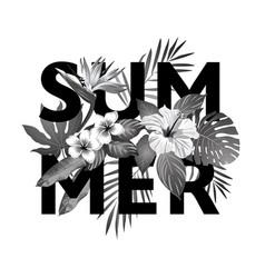 Tropical paradise summer vector