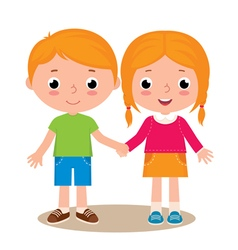 Two friends boy and girl vector