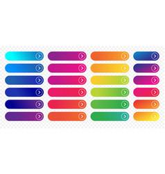 web button flat design template next icon color vector image