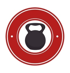Weight lifting fitness lifestyle vector