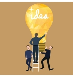 working together teamwork make ideas success light vector image