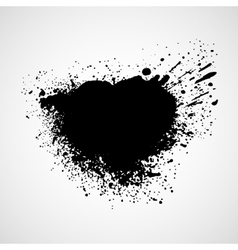 Black grungy design elements vector image vector image