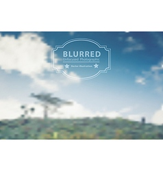 blurred with landscape mountains and clouds sky vector image vector image