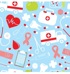 Colorful medical pattern vector image vector image