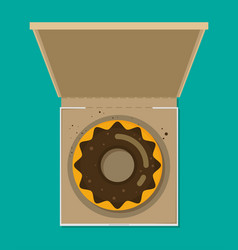 donut in box modern flat style vector image