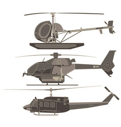 helicopters set cartoon transport airplane vector image vector image