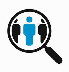 magnifying glass search people vector image vector image