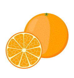 orange in cartoon style fresh ripe exotic fruit vector image vector image