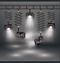 realistic spotlights set vector image vector image