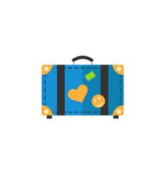 travel bag flat icon travel tourism vector image