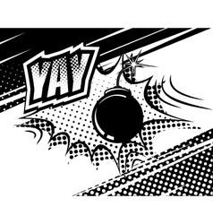 YAY comic sound Bubbles and explosions in pop art vector image vector image