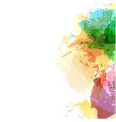 bright abstract art watercolor splatter vector image vector image