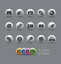 Computer Devices Pearly Series vector image vector image