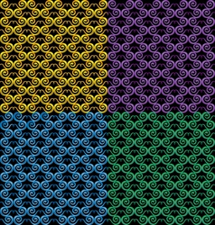 Pattern in the form of snake vector image