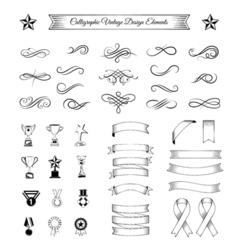 Band ribbon tape collection of fifteen design vector image
