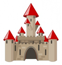 cartoon castle isolated on white vector image vector image