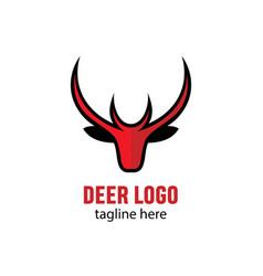 head deer mascot stock vector image vector image