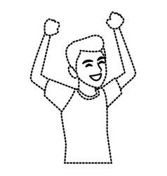 man happy cartoon vector image
