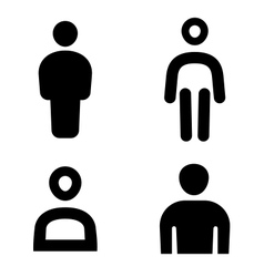 Man icon vector image vector image