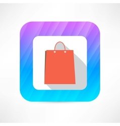 paper bag icon vector image