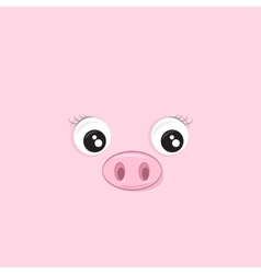Pink Piggy vector image vector image